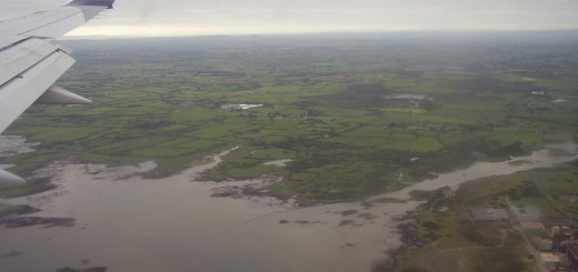 Flying over Ireland