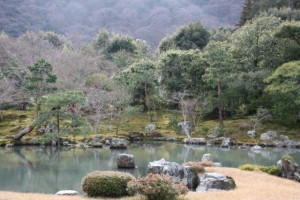 Garden & pond at Tenryuji